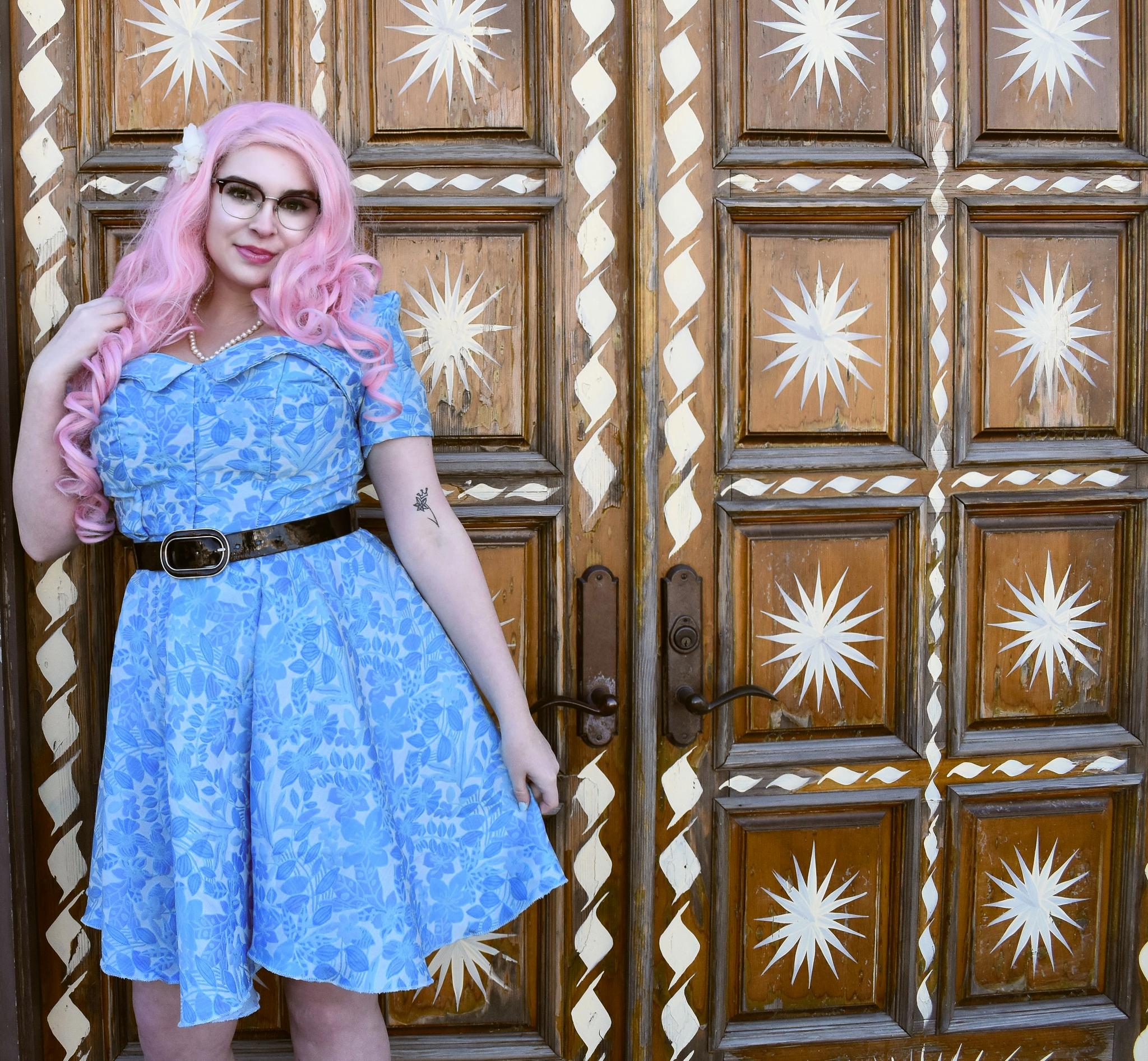 Lochlan O'Neil Blue Pinup Dress